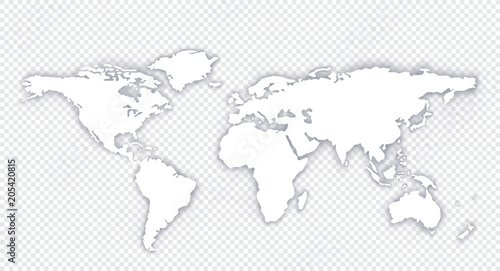 World map globe with shadow on a isolated background stock vector world map globe with shadow on a isolated background stock vector gumiabroncs Choice Image