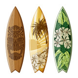 Surfboards with Flat Design - 205422217