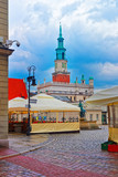 Street cafes at Neptune fountain in Poznan