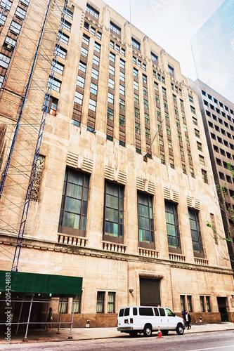 Foto Murales Stock Exchange on Wall Street of Lower Manhattan