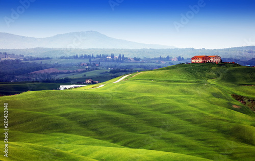 Wall mural Summer landscape in Tuscany, Italy, Europe