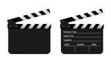 Film clapper board on white background. Vector - 205436016