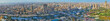 Quadro Panorama of busy districts of Giza, Egypt