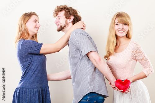 Fototapeta Handsome man betrayed women