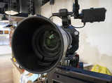 tv camera in a studio - 205446460