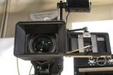 tv camera in a studio - 205446633
