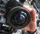 tv camera in a studio - 205446807