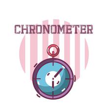Sport Chronometer Equipment Sticker