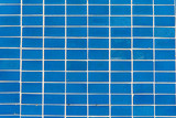 Background from blue rectangular mosaic tiles - 205469862