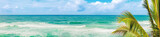 Beautiful view of sea vawes. Tropical landscape. Panorama