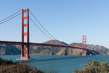 Golden Gate without clouds in a good weather