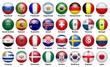 Leinwanddruck Bild - Fußball. 2018. Teilnehmenden Mannschaften