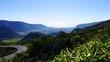 Col de Bellevue, vue de St Benoît et de l'océan, La Réunion