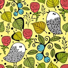 Seamless Pattern  Autumn Style Nature  Sticker