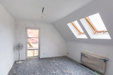 Empty room interior at renovation in the house - 205500255