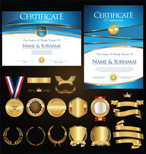 Of Certificate Badges Labels Shields And Laurels  Sticker
