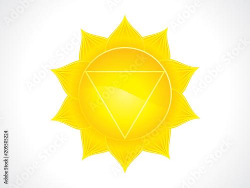 Poster abstract artistic yellow solar plexus chakra