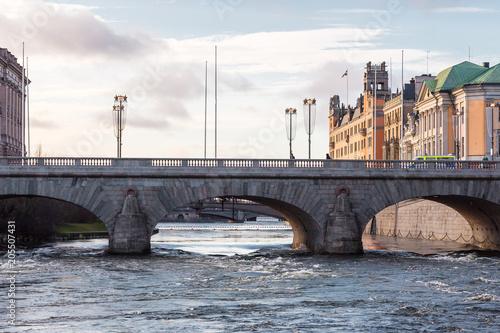 Plexiglas Stockholm stockholm city scape, palace