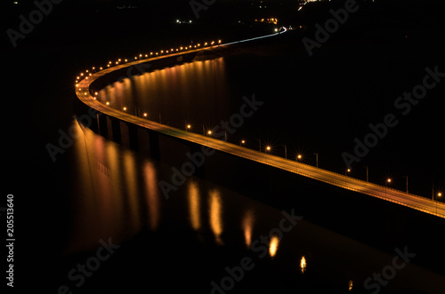 Sticker Brücke im Dunkeln