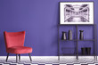 Violet and red flat interior