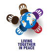the table with world concept for peace day or live together in peace