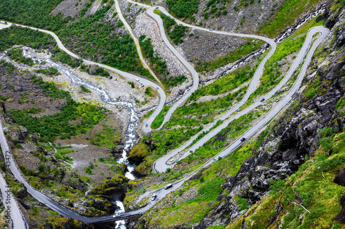 Norway troll road, mountain route - 205543472