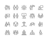 Line Business People Icons - 205544279