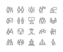 Line Business People Icons Sticker