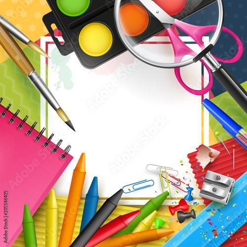 Colorful modern school template