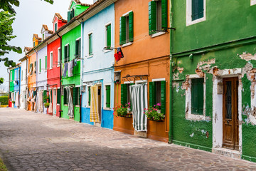 Colorful Homes of Burano, Italy