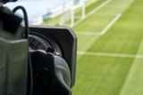 close up of soccer field grass - 205560830