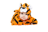 baby wearing tiger suit - 205573058
