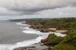 Quadro Green rocky coast of Java island Indonesia. Javanese landcape. Version 2.