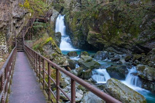 Fotobehang Lavendel 小坂の滝 三ッ滝