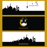 Ramadan Kareem Background. Vector. greetings in Arabic script. An Islamic greeting card for holy month art.