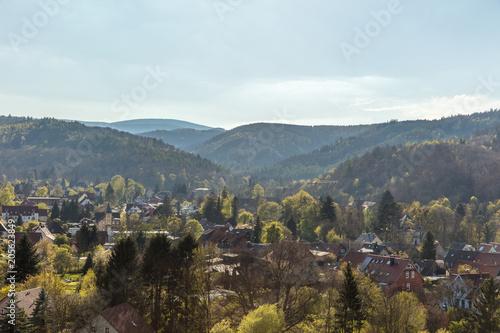 Stadt Wernigerode im Harz Gebirge