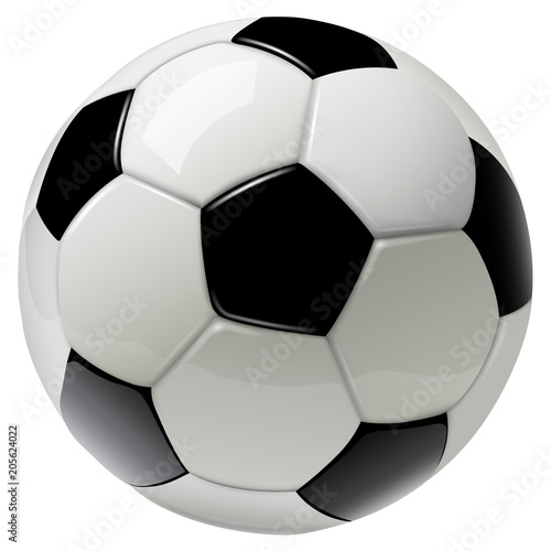 Fototapeta soccer ball isolated on white