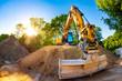 Quadro Big excavator in construction site