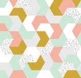 Cute colorful arrow seamless pattern. Endless background of geometric shapes. Vector illustration.  - 205640006