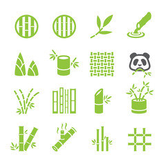 Bamboo icon set © STRIPBALL