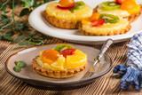 Mixed fruit tart.