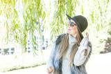 Adorable woman in sunglasses