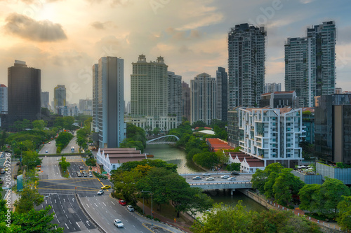 City Skyline along Singapore River