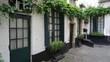 Quadro Old cobblestone street with old houses in Antwerp, Belgium.
