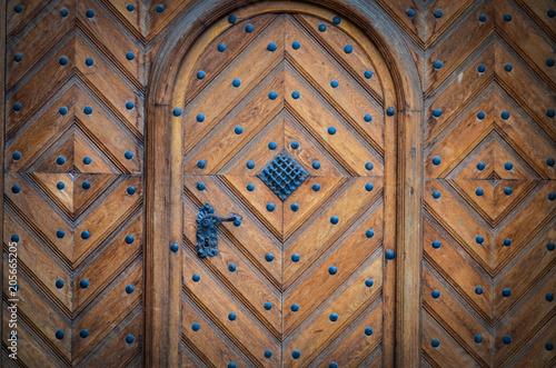 starożytne drzwi z bliska widok
