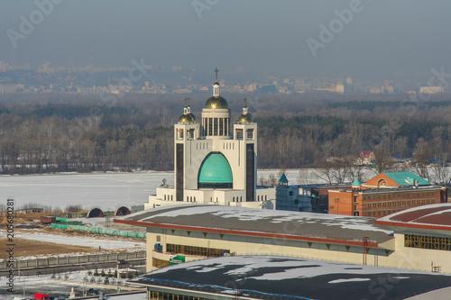 Aluminium Kiev church in the city of Kiev
