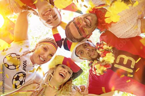 canvas print picture Fussballfans Deutschland Party