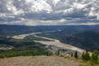 Dawson City and the Yukon River from Midnight Dome, Yukon.