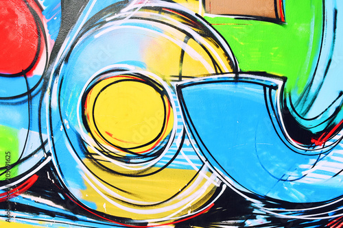 Abstract drawing on the wall,street art,graffiti