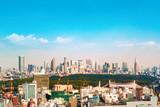 View of the Shinjuku skyline from Shibuya, Tokyo, Japan - 205708235